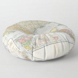 Flemmings Kriegskarten / Flemming's War Maps (1914) - 019 Mexico and the American Sphere Floor Pillow
