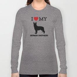 I Love my German Shepherd Design Long Sleeve T-shirt