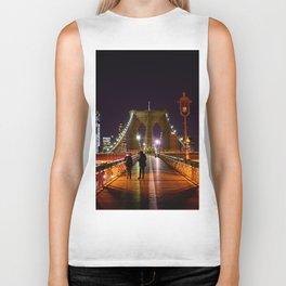 Brooklyn Bridge at Night Biker Tank