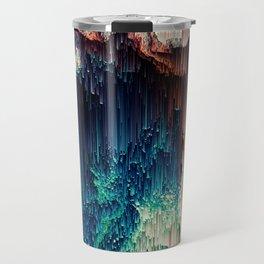 Cave of Wonders - Abstract Glitch Pixel Art Travel Mug