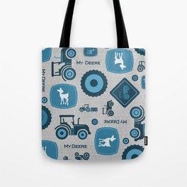 Farm Tractors - Blue Tote Bag
