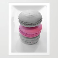 macaroons Art Prints featuring Macaroons by 2sweet4words Designs