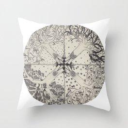 Rotating Seasons Throw Pillow