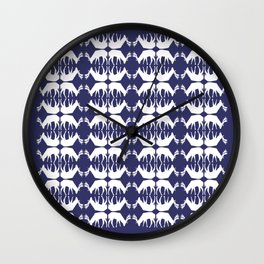 Oh, deer! in paddle blue Wall Clock