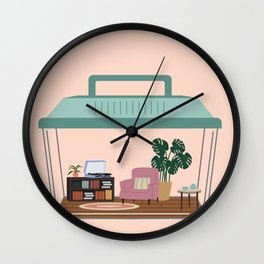 hermit habitat Wall Clock