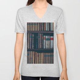 The Vintage Bookshelf (Color) Unisex V-Neck