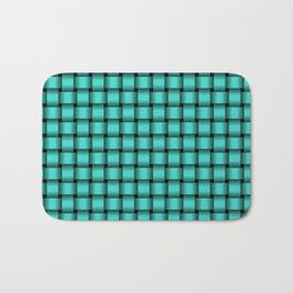 Small Turquoise Weave Bath Mat