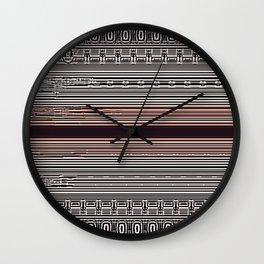 Pink Slit Wall Clock