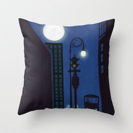 Last Stop For The Night Bus Throw Pillow