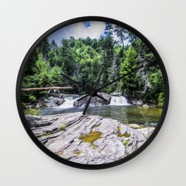 Lower Fall View Wall Clock