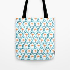 Flamingo and Leaves Tote Bag
