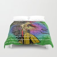 rap Duvet Covers featuring My Hippie Boy Rap - Bad Girl Style :) by Wired Circuit