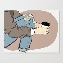 Fashion Latte To Go Canvas Print