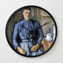 1895 - Paul Cezanne - Woman with a Coffeepot Wall Clock