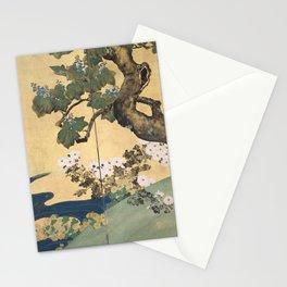 Paulownias and Chrysanthemums Stationery Cards