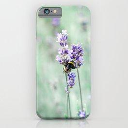 Bumble bee lavender dreams | Nature photography | Fine art print | Art Print iPhone Case