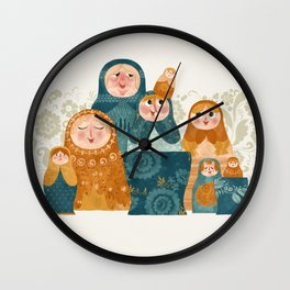 matryoshkas Wall Clock