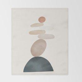 Balancing Stones 24 Throw Blanket