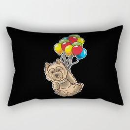 Funny Cairn Terrier Dog With Balloons Rectangular Pillow