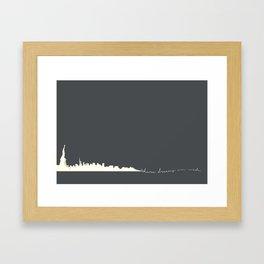 Where dreams are made Framed Art Print