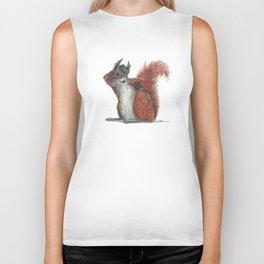 Squirrels' hat Biker Tank
