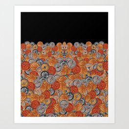 PIZZA AND PLATES Art Print