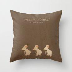 Three Blind Mice. Children's Nursery Rhyme Inspired Artwork. Throw Pillow