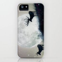 blue moon rising iPhone Case
