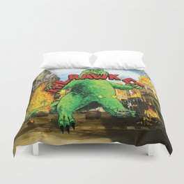 Milrawkee: Godzilla in the Third Ward Duvet Cover
