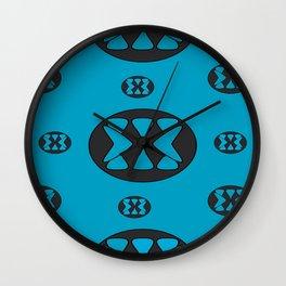 blue patterns Wall Clock