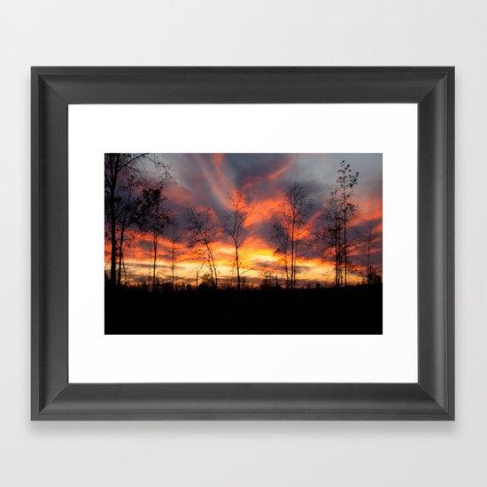 South Georgia Sky on Fire Framed Art Print