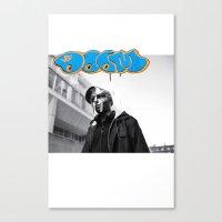 mf doom Canvas Prints featuring MF DOOM by BLACK-TOKYO