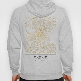 DUBLIN IRELAND CITY STREET MAP ART Hoody