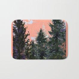 CORAL PINK WESTERN PINE TREES MOUNTAIN LANDSCAPE Bath Mat