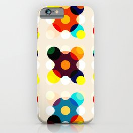 Adlet - Colorful Dots in Star Shape on Beige iPhone Case