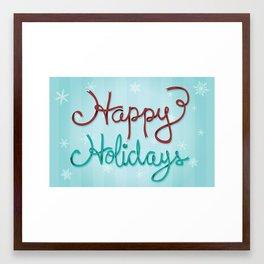 Holiday Ribbon Framed Art Print
