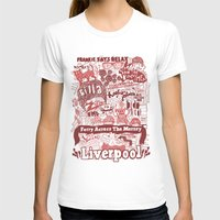 liverpool T-shirts featuring Liverpool by leeann walker illustration
