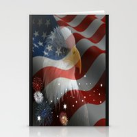 patriotic Stationery Cards featuring Patriotic America by Barrier Style & Design
