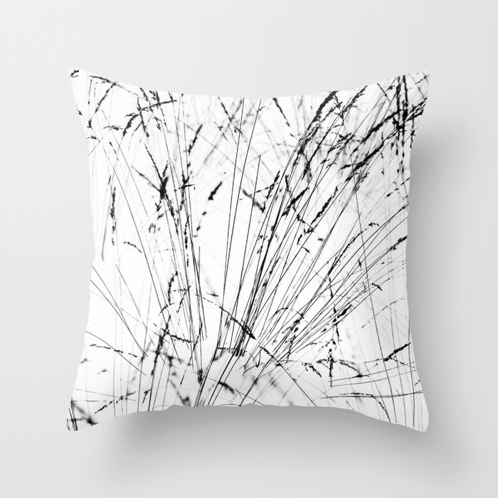 Winter Grasses Throw Pillow