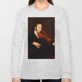Niccolò Paganini by Daniel Maclise (1831) Long Sleeve T-shirt