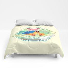 Ocean terrarium - Boxer crab, hermit crab Comforters