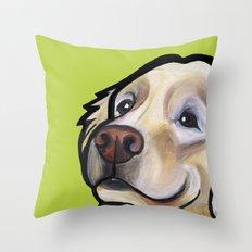 George the golden retriever Throw Pillow