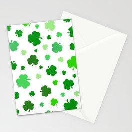 Green Shamrock Pattern Stationery Cards