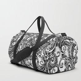 paisley batik black Duffle Bag