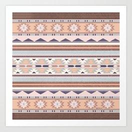 Blush South Western Pattern Art Print