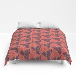 Trinity Pattern Pink Purple Comforters