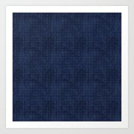 blue pattern 4  Art Print