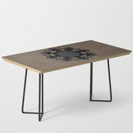 Lotus Mandala on Fabric Coffee Table