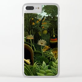Henri Rousseau The Dream Painting Clear iPhone Case
