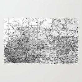 Vintage Map of Guatemala (1902) BW Rug